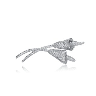 Collette Z Sterling Silver White Cubic Zirconia Pin