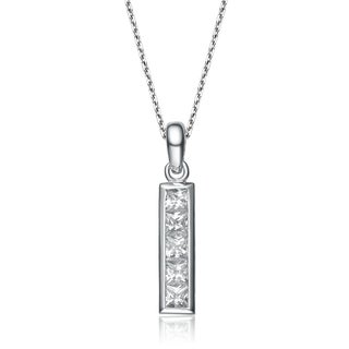 Collette Z Sterling Silver White Cubic Zirconia Pendant