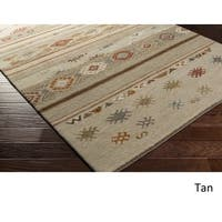 Hand Knotted Taverny New Zealand Wool Area Rug - 9' x 13'