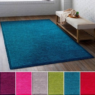 Hand Tufted Sarreguemines Polyester Rug (5' x 7'6)
