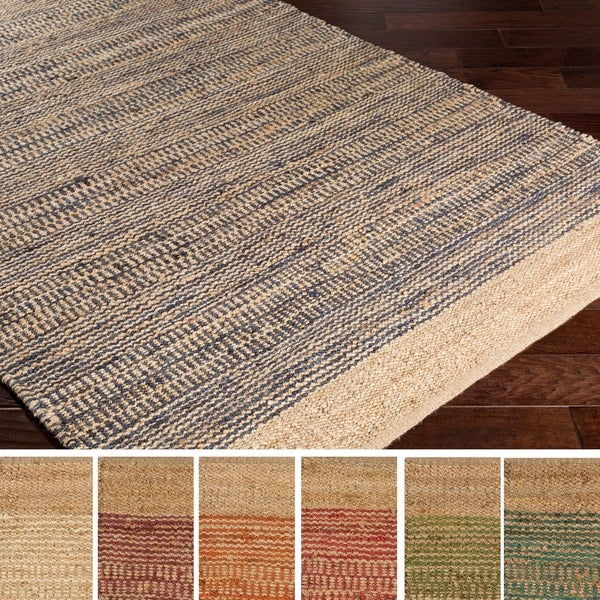 Washable Jute Rugs: Hand Woven Sandbach Jute/Cotton Rug (5' X 7'6)