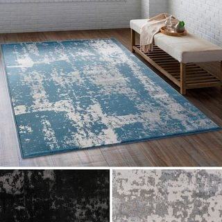 Sirius Distressed Abstract Rug (2' x 3'7)