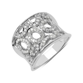 Olivia Leone Sterling Silver 1/2ct TDW White Diamond Ring (I-J, I2-I3)