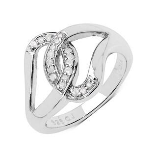 Olivia Leone Sterling Silver 1/8ct TDW White Diamond Ring