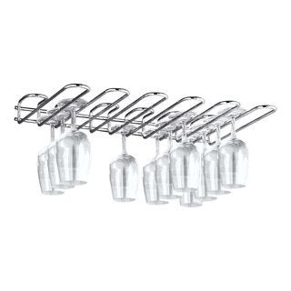 Paderno World Cuisine Chromed Steel Glass Rack, Ceiling Mounted