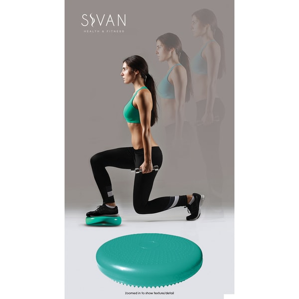 Sivan 35-centimeter Teal Air Cushion for Balance and Stability Training