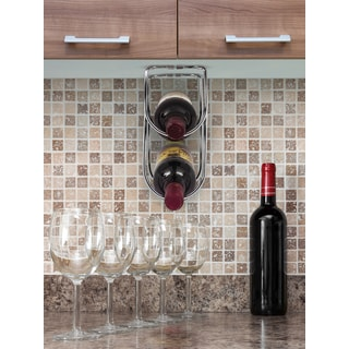 Under Cabinet Double Wine Bottle Holder