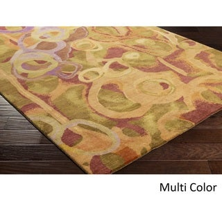 Hand Knotted Pipa Wool Area Rug - 9' x 13'