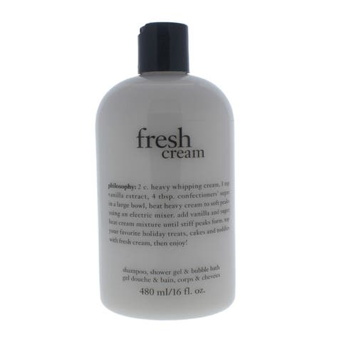 Philosophy Fresh Cream 16-ounce Shampoo, Shower Gel, and Bubble Bath