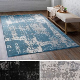 Sirius Distressed Abstract Rug (5'3 x 7'3)