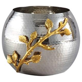 Elegance Golden Vine Hammered Pot