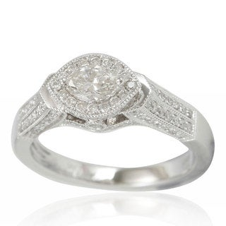 Suzy Levian 14K Gold and Marquise Diamond Ring - White