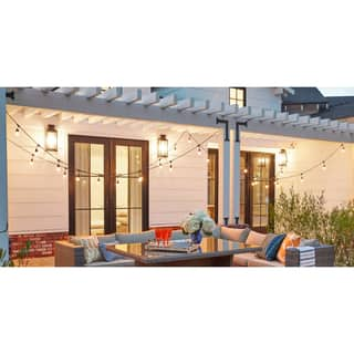 Other outdoor lighting for less overstock vintage metro 48ft light string 24 lights with clear bulbs 16 gauge aloadofball Choice Image