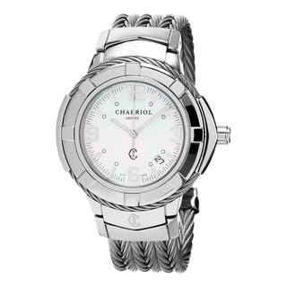Charriol Women's CE438S.650.001 'Celtic' Mother of Pearl Dial Medium Stainless Steel Swiss Quartz Wa|https://ak1.ostkcdn.com/images/products/11065795/P18075909.jpg?impolicy=medium