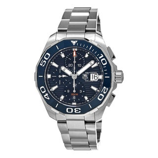 Tag Heuer Men's CAY211B.BA0927 '300 Aquaracer' Blue Dial Stainless Steel Chronograph Swiss Automatic