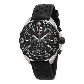 Link to Tag Heuer Men's CAZ1110.FT8023 'Formula 1' Chronograph Black Rubber Watch Similar Items in Men's Watches