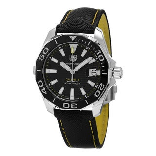 Tag Heuer Men's WAY211A.FC6362 '300 Aquaracer' Black Dial Black Fabric Strap Swiss Automatic Watch