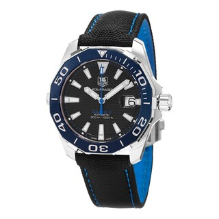 Tag Heuer Men's WAY211B.FC6363 '300 Aquaracer' Black Dial Black Fabric Strap Swiss Automatic Watch