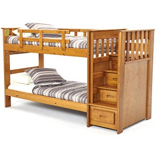 Woodcrest Front Loading Stairway Bunk Bed