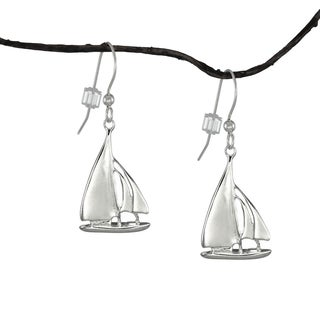 Jewelry by Dawn Nautical Sailboat Sterling Silver Earrings