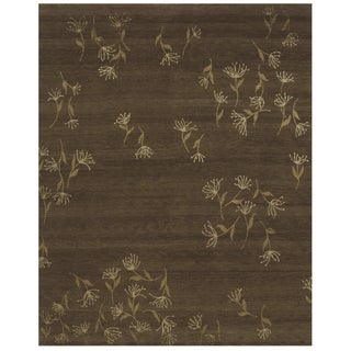 Grand Bazaar Hand-knotted Wool and Silk Tristesse Rug (7'9 x 9'9)