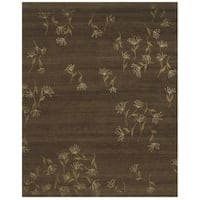 Grand Bazaar Hand-knotted Wool and Silk Tristesse Area Rug (7'9 x 9'9)