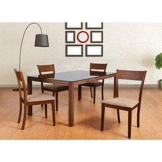 Olivia Mid-Century 5 Piece Living Room Dining Set, Brown