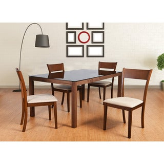 Olivia Mid-Century 5-Piece Living Room Dining Set, Sand
