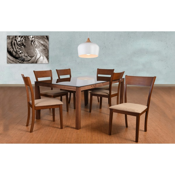 Olivia 7 Piece Dining Set, Brown