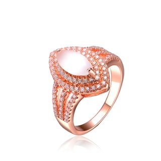 Collette Z Sterling Silver White Oval Cubic Zirconia Ring