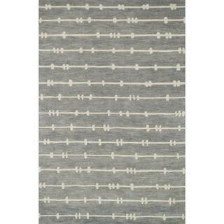 Hand-tufted Echo Grey/ Ivory Rug (5'0 x 7'6)