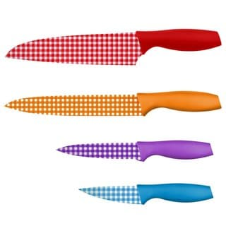 Hampton Forge 4 Piece Tomodachi Gingham Cutlery Set