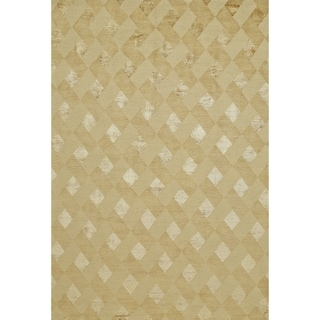 Grand Bazaar Hand-knotted Wool and Silk Chadwick Rug in Gold - 4' x 6'
