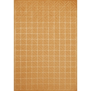 Grand Bazaar Hand-knotted Wool and Silk Chadwick Rug in Copper - 4' x 6'