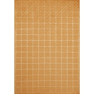 Grand Bazaar Hand-knotted Wool and Silk Chadwick Rug in Copper (4' x 6')