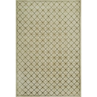 Grand Bazaar Hand-knotted Wool and Silk Chadwick Rug in Moss - 4' x 6'
