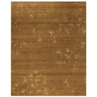 Grand Bazaar Hand-knotted Wool and Silk Tristesse Rug in Terra Cotta - 4' x 6'