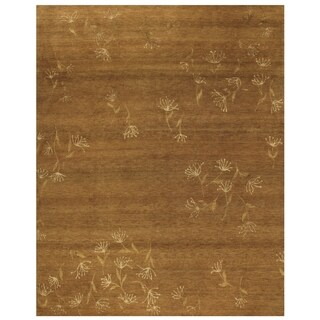 Grand Bazaar Hand-knotted Wool and Silk Tristesse Rug in Terra Cotta (4' x 6') - 4' x 6'