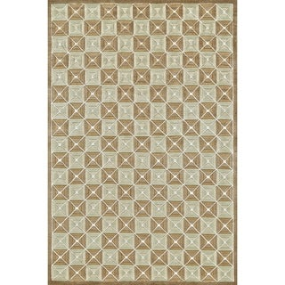 """Grand Bazaar Hand-knotted Wool and Silk Chadwick Rug in Taupe (5'6 x 8'6) - 5'6"""" x 8'6"""""""