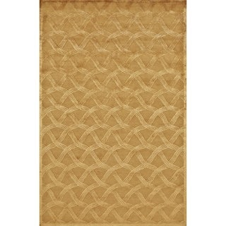 Grand Bazaar Hand-knotted Wool and Silk Chadwick Rug in Copper (5'6 x 8'6)
