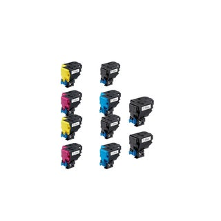 2 Set +2 BK Compatible A0X5132 A0X5432 A0X5332 A0X5232 Toner Cartridge For QMS Bizhub C35, C35P ( Pack of 10)