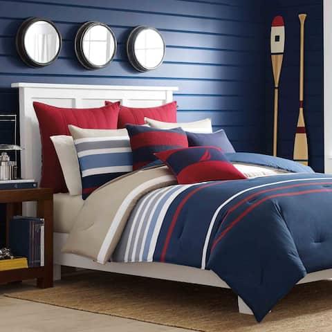 Nautica Bradford Reversible Cotton 3-piece Full/ Queen Size Comforter Set (As Is Item)