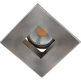 Elegant Lighting Elitco 3-Inch Brushed Nickel Square Baffle Trim