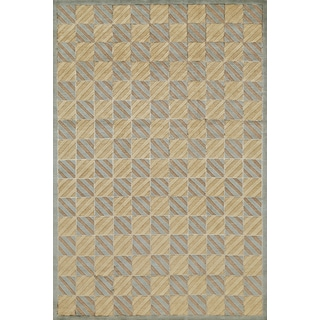 Grand Bazaar Hand-knotted Wool and Silk Chadwick Rug (7'9 x 9'9)