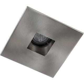 Elegant Lighting Elitco 4-Inch Brushed Nickel Square Aperture and Trim Ring