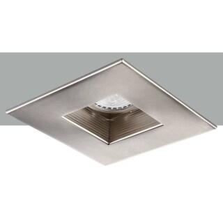 Elegant Lighting Elitco 4-Inch Brushed Nickel with Square Baffle Trim