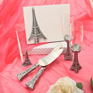 Eiffel Tower Theme Wedding Accessory Set