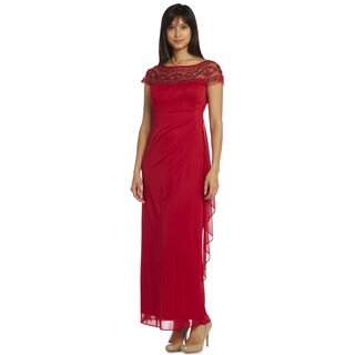 R & M Richards Women's Mesh Evening Gown (More options available)