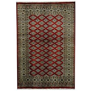 Herat Oriental Pakistani Hand-knotted Prince Bokhara Wool Rug (4'2 x 6')