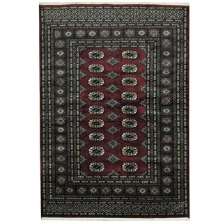 Herat Oriental Pakistani Hand-knotted Prince Bokhara Wool Rug (4' x 6')